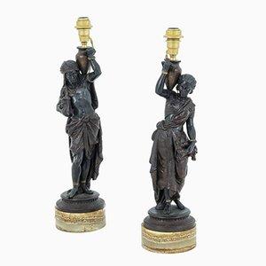 Napoleon III Tischlampen im Orient-Stil aus dem Hause Spelter, 2er Set