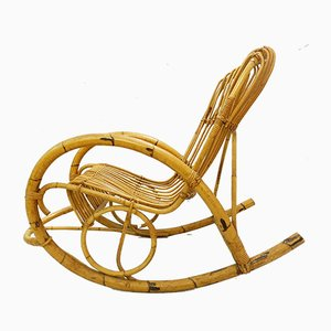 Rattan Rocking Chair by Rohe Noordwolde