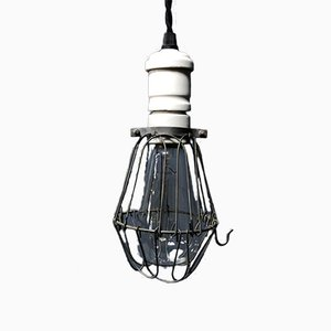 Amerikanische Lampe in Käfig-Optik, 1930er