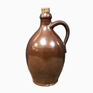 19th Century Brown Earthenware Jar