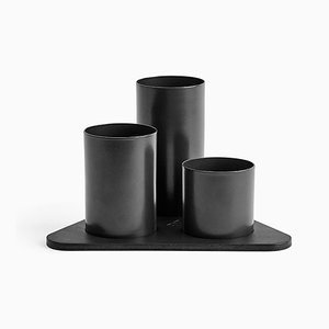 Black Manhattan Desktop Organizer by Kerem Aris for Uniqka