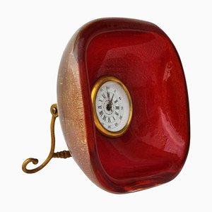 Horloge de Table par Archimede Seguso pour Seguso, 1950s