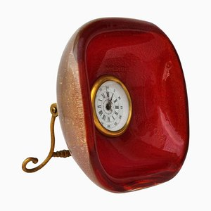 Table Clock by Archimede Seguso for Seguso, 1950s