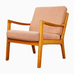 Teak Senator Lounge Chair by Ole Wanscher for Poul Jeppesens Møbelfabrik, 1950s
