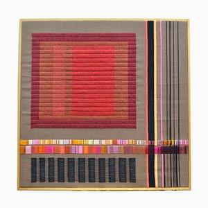 Violettes Abstraktes Kunstwerk von Delphine A. Davidson, 1980er