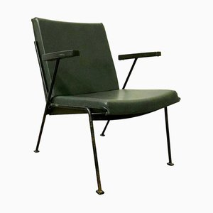 Green Leatherette Oase Armchair by Wim Rietveld for Ahrend De Cirkel, 1960s