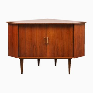 Walnut Corner Chest, 1950s