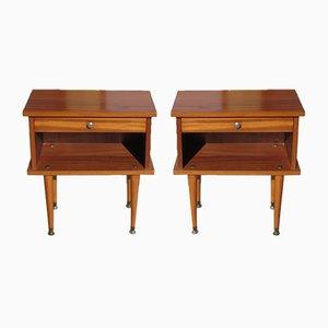 Tables de Chevet Scandinaves Vintage, 1970s, Set de 2