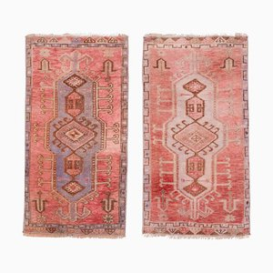 Vintage Turkish Handmade Oushak Rugs, 1970s, Set of 2