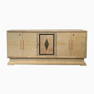 Art Deco Italian Parchment Sideboard, 1930s