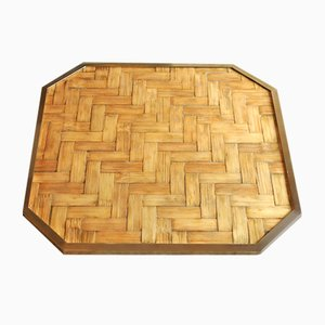 Brass and Bamboo Tray, 1960s