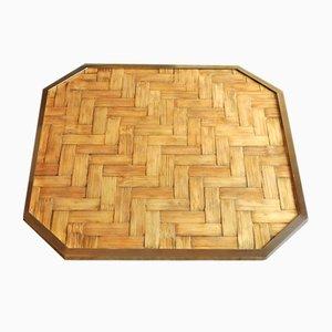 Vassoio in ottone e bambù, anni '60