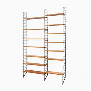 "Ash Double Shelf with Ladders by Strinning, Kajsa & Nils ""Nisse"" for String, 1960s"