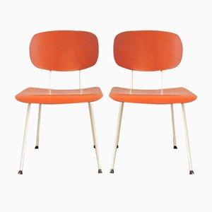 Niederländische Mid-Century Modell 116 Esszimmerstühle von Gerrit Rietveld für Gispen, 2er Set