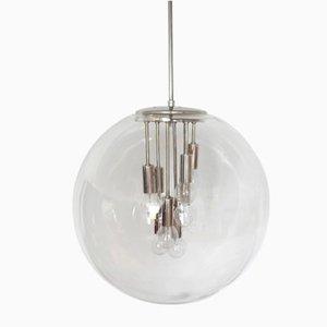 Lámpara colgante Sputnik era espacial de vidrio