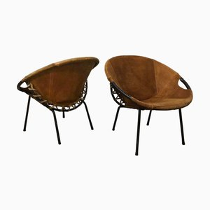 Danish Baloon Armchairs by Erik Ole Jørgensen for Movirke, 1960s, Set of 2