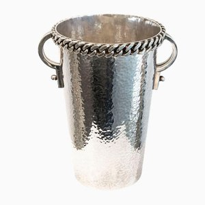 Mid-Century Chain Patterned Wine Bucket by Jean Després