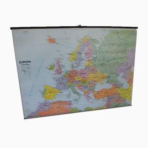 Mapa político y físico de Europa de Belletti Editorre, años 90