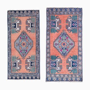 Vintage Turkish Oushak Wool Rugs, 1980s, Set of 2
