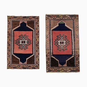 Small Vintage Turkish Handmade Door Mat Rugs, 1970s, Set of 2