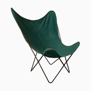Green and Grey Butterfly Chair by Jorge Ferrari-Hardoy, 1960s