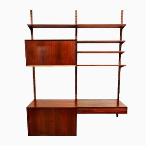 Mid-Century Danish Rosewood Wall Unit and Shelving Set by Poul Cadovius for Cado, 1960s