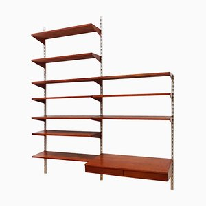 Mid-Century Danish Rosewood and Teak Wall Unit and Shelving Set by Kai Kristiansen for FM Møbler, 1960s