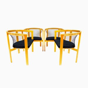 Danish String Dining Chairs by Niels Jørgen Haugesen for Tranekær Furniture, 1980s, Set of 4