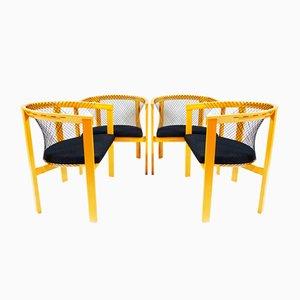 Sedie da pranzo String di Niels Jørgen Haugesen per Tranekær Furniture, Danimarca, anni '80, set di 4