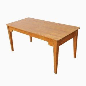 Mesa de granja antigua pequeña de madera de pino, años 10