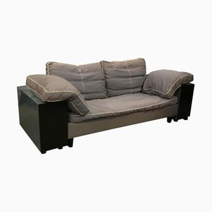 Vintage Blue Black and Gray Classicon Lota Sofa by Eileen Gray