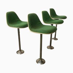 Barstühle mit Grünen Bezügen von Charles & Ray Eames für Herman Miller, 1970er, 4er Set