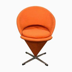 Chaise Conique en Tissu Orange par Verner Panton pour Rosenthal, 1950s