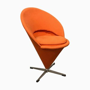 Orange Fabric Cone Chair by Verner Panton for Rosenthal, 1960s