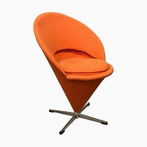 Sedia conica in tessuto arancione di Verner Panton per Rosenthal, anni '60
