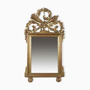 Goldener geschnitzter Spiegel, 1980er