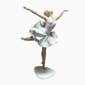 Vintage Porzellan Ballerina Figurine von Dresden