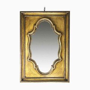 Lackierter Vintage Holz Spiegel, 1980er