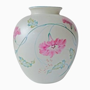 Hand Painted Porcelain Vase by M.S. for Rosenthal Germany Kunstabteilung Selb, 1946