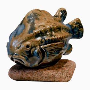 Skulptur aus Seehund von Engqvist für Råå Keramik Studio, 1960er