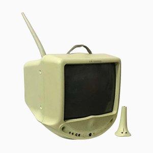 Televisor en verde menta de Philippe Starck para Nordmende, años 90