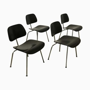 Black DCM Dining Chairs by Charles & Ray Eames for Vitra, 2000s, Set of 4