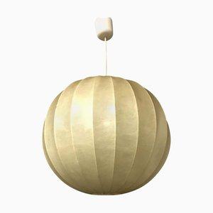 Lampe à Suspension Cocoon Sphérique en Plastique et Métal, 1960s