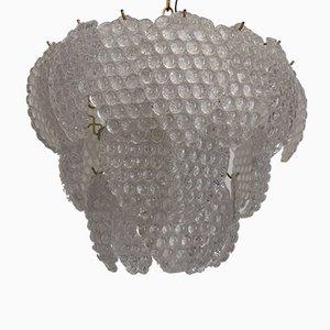 Lampadario con cluster in vetro di Murano di Mazzega, anni '70