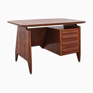 Mid-Century Italian Mahogany Desk by Vittorio Dassi for Dassi, 1950s