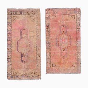 Small Turkish Distressed Door Mat Rugs, 1970s, Set of 2