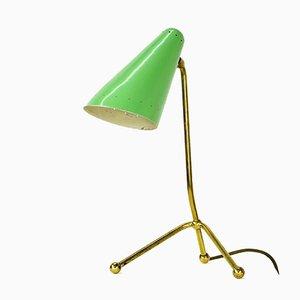 Lampe de Bureau Tripode en Laiton et Acier, 1950s