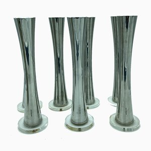 Vintage Bamboo Candleholders from Sambonet, Set of 7