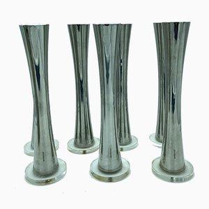 Vintage Bambus Kerzenständer von Sambonet, 7er Set