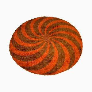 Vintage Round Woolen Carpet, 1970s